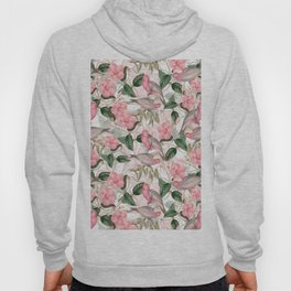Vintage & Shabby Chic - Pink Tropical Birds And Flowers Hoody