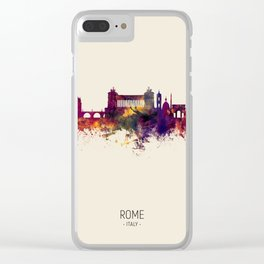 Rome Italy Skyline Clear iPhone Case