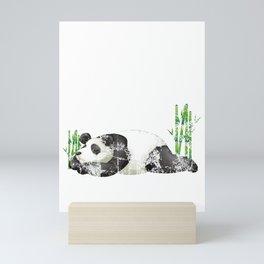 Nope Not Today Lazy Sleepy Panda Distressed Mini Art Print