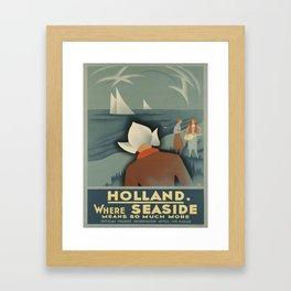 Vintage poster - Holland Framed Art Print