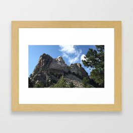 mighty mount rushmore Framed Art Print
