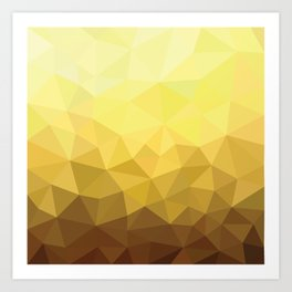 Golden Luxury Art Print