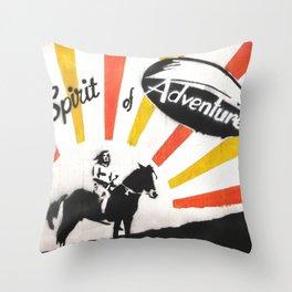 spirit of adventure Throw Pillow