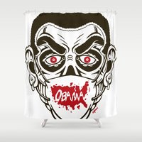 obama Shower Curtains featuring Zombie Obama - Healthscare by Granman