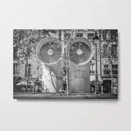 Giant Air Vents at Beaubourg cultural centre, Paris Metal Print