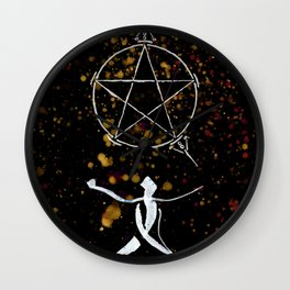 A Tarot of Ink 02 of Pentacles Wall Clock