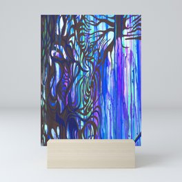 Drippy Trees Mini Art Print