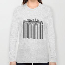Zebra Barcode Long Sleeve T-shirt