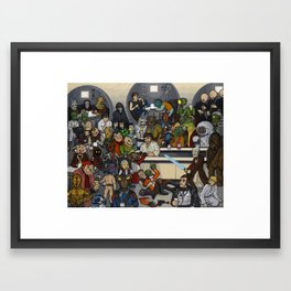 The Mos Eisley Cantina Framed Art Print