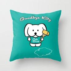 Goodbye Kitty Throw Pillow