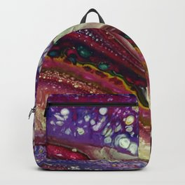 Euphoria-2, Pouring medium, acrylic on canvas Backpack