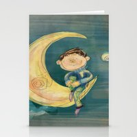 boy Stationery Cards featuring Boy by Catru
