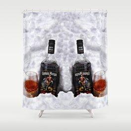 Ice Cold Captain Morgan Rum Shower Curtain