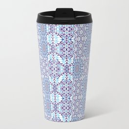 Blue Mandala Tiles Travel Mug