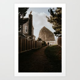 Cozy Cannon Beach, Oregon Art Print