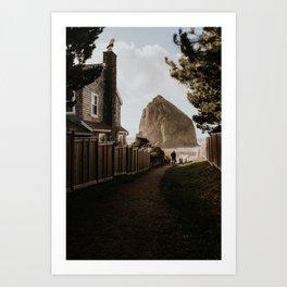 Cozy Cannon Beach, Oregon Art Print