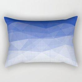 Imperial Lapis Lazuli - Triangles Minimalism Geometry Rectangular Pillow