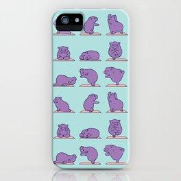 Baby Hippo Yoga iPhone Case