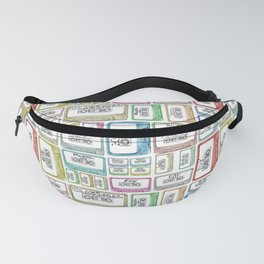 Tape Mix 1 Vintage Cassette Music Collection Fanny Pack