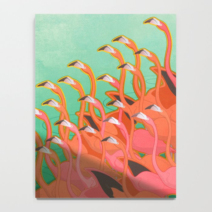 Fresco of the flamingoes. Notebook