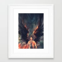 angel Framed Art Prints featuring The Angel of the Lord by Alice X. Zhang
