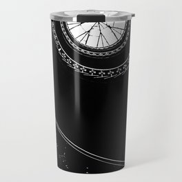 Spiral staircase in blck and white Travel Mug