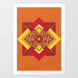 GEO CASHEW 1  Art Print