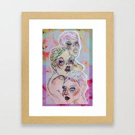 Three Crystalline Roses Framed Art Print