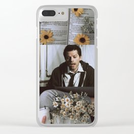 soft misha collins aesthetic Clear iPhone Case