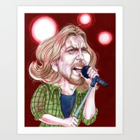 eddie vedder Art Prints featuring Vedder by C.M. Duffy