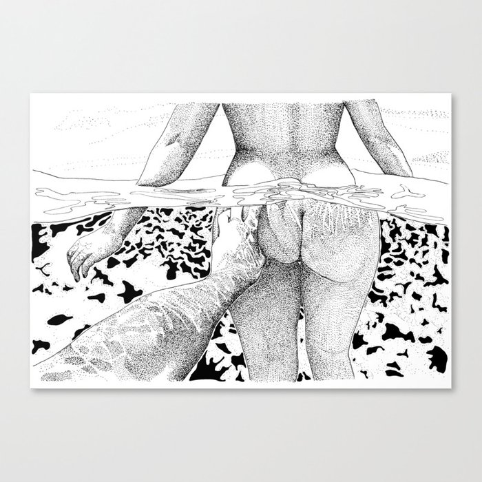 The Swim Canvas Print