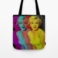 marilyn Tote Bags featuring Marilyn  by Laure.B