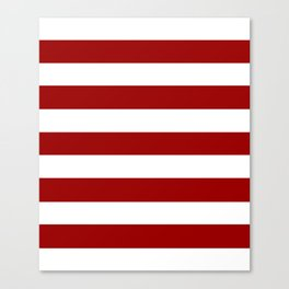 USC Cardinal - solid color - white stripes pattern Canvas Print