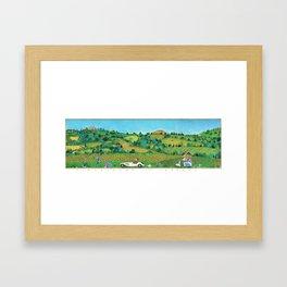 VIAGGIANDO IN TOSCANA Framed Art Print