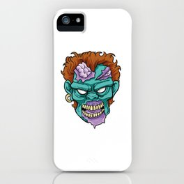 Zombie Horror Undead Gift iPhone Case