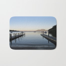 Sunset at Lake Taupo Bath Mat