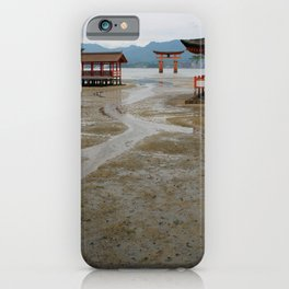 itsukushima shrine and torii gate iPhone Case