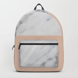 Marble and Blush Pink Backpack