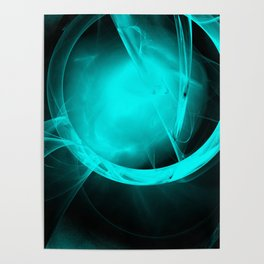 Through the glowing glass portal Poster