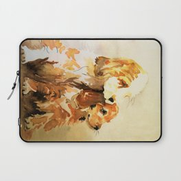 two dogs spaniel Laptop Sleeve