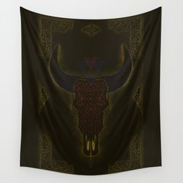 Skull Sculpture Wall Tapestry