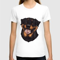 rottweiler T-shirts featuring Rottweiler 2 by Mickeyila Studios