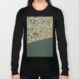 Terrazzo Texture Military Green #4 Long Sleeve T-shirt