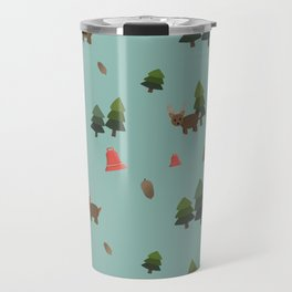 Felt Board Christmas Woodland/Jingles the Reindeer,Bells,Pine Trees,Pine Cones Travel Mug