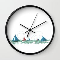 philippines Wall Clocks featuring Boracay, Aklan, Philippines by Owen Ballesteros