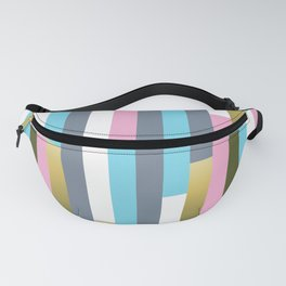 Colorful vertical wood planks pattern Fanny Pack
