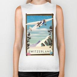 Switzerland travel poster Biker Tank