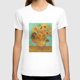 Vincent Van Gogh Twelve Sunflowers In A Vase T-shirt
