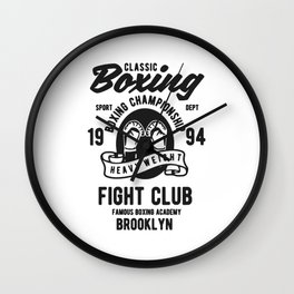 clasic boxing club Wall Clock