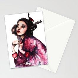 Geisha Girl // Fashion Illustration Stationery Cards